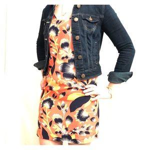 J. Crew orange floral dress
